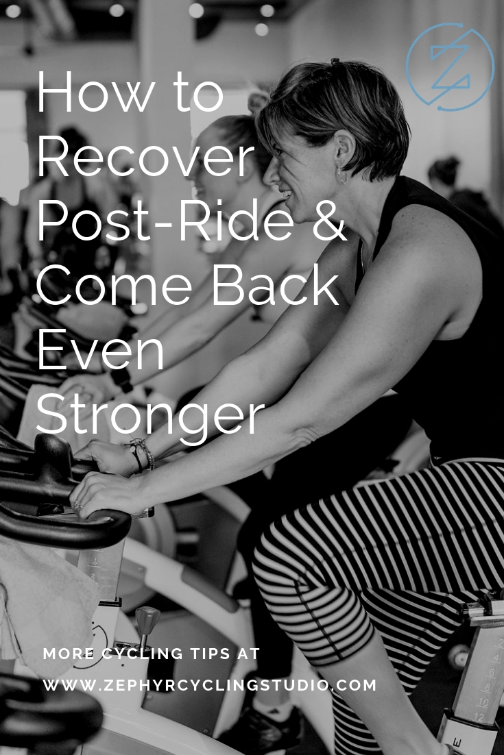 how to recover post-cycling class